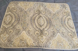 Tommy Bahama Home Gray White Paisley Pillow Sham Standard 100% Quilted Cotton