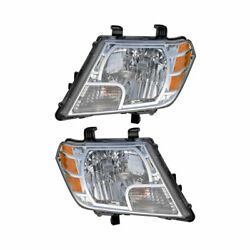 Pair New Left Right Headlight Assembly For Nissan Frontier 2009 2010 2011