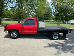 2000 Chevrolet C/k Pickup 3500 W/t 2000 Chevrolet 3500 Regular Cab 9' Flatbed With Toolbox 2wd 5.7 V8