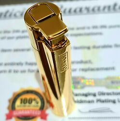 24k Gold Plated Metal Clipper Lighter Electronic Turbo Jet Gas 2021 Edition 24ct