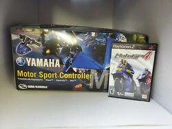 New Yamaha Motor Sports Controller For Ps2 + Used Motogp 4 Motorcycle Game