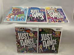 Lot Of 5 Just Dance 3 4 2015 2016 And Kids Nintendo Wii Lot Bundle Tested