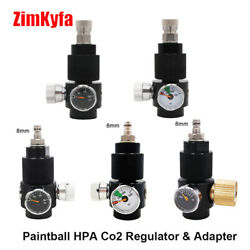 Paintball Airsoft Pcp Hpa Co2 Regulator And 8mm Quick Disconnect Adapter Diy Kit