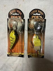 2 Poes Super Cedar Series 300 And 400 Old Fishing Lures 3