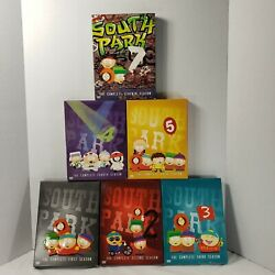South Park 6 Seasons 1 2 3 4 5 And 7 Dvd Lot 18 Dvd's Comedy Central Complete