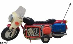 Antique Tin Toy 1960's Pe 820 Chinese Plastic + Tin Toy Motorcyle Tested Works