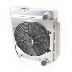 For 1960-1965 Ford Falcon Comet 1964 65 66 Ford Mustang Aluminium Radiator And Fan
