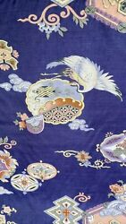 Old Unusual Chinese Silk Tapestry Textile Wall Hanger With Cranes