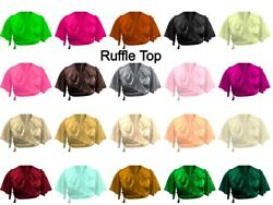Frill Full Flair Top Special Tribal Dance Costumes Satin Women Ruffle Top S84-3