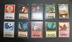 Mtg Christopher Rush Signed Fifty 50 Card Collection All Different No Dupes
