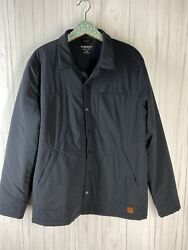 Toad And Co Menand039s Size Large Navy Blue Aerium Shirt Jacket Nylon Lightweight Guc