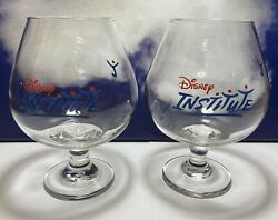Disney Institute 6andrdquo Clear Brandy Snifter Glass Set. Promo Collectible Glasses
