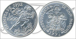 San Marino - Coins Commemorative- Year 1991 - Number Km00272 - Fdc 1000 Lire