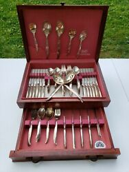 1847 Rogers Bros. Is International Silver Flair Silverware 98 Piece Set And Chest