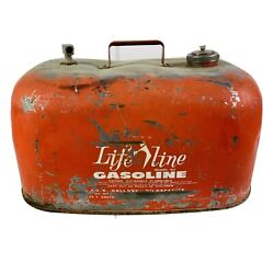 Life Line 6 Gallon Outboard Boat Motor Gas Fuel Tank Can Model 1980 Johnson