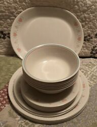 Set Of 25 Corelle Forever Yours Dishes