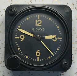 Us Navy An5743-tl1a Waltham 11 Jewel A-11 Aircraft Clock Yellow Numbers Hands