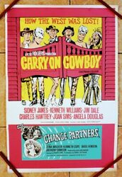 Carry On Cowboy D.bill 1965 Original British Double Crown Poster .30 X 20