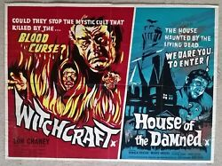 Witchcraft/ House Of The Damned 1964 Original Very Rare Uk Quad Poster 30 X 40