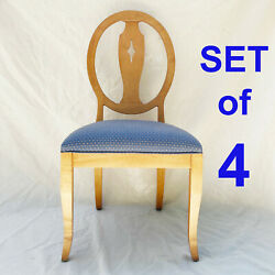 Set Of 4 Ethan Allen Country Colors Hoop Back Dining Chairs 14-6420