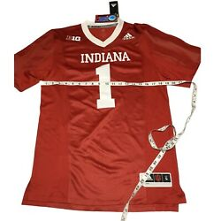 Adidas Indiana Hoosiers Football Stitched Climalite Jersey Ea2008 Size Small Nwt