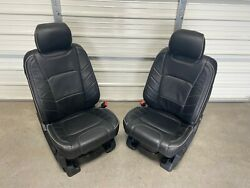 2017-2020 Ford F150 F250 F350 F450 Super Duty Front And Rear Seats Black Leather