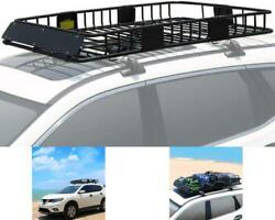 Universal Extendable Car Top Roof Rack Basket Suv Truck Luggage Carrier Cargo