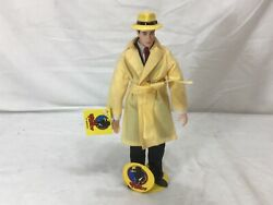 1990 Disney Applause Dick Tracy Figure Doll 8 Inch Size And Stand New Tags Freeshp