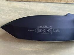 Microtech Currahee Fixed Blade Knife 103-1 T/e Black Standard Brand New In Box