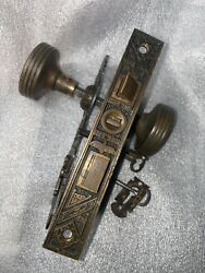 Antique Reading Hardware Mortise Lock And Key Door Knobs Rosettes And Keyhole Covers
