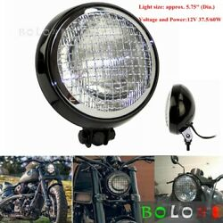 5.75 Round Headlight Mesh Grill Cover Head Lamp For Harley Dyna Bobber Chopper