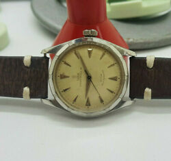 Vintage Rare Rolex Tudor Oyster 34 Silver Dial Automatic Manand039s Watch