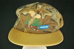 Vintage 90s K Products Norton Camouflage Hunting Camo Hat Skate Brown Mens Usa
