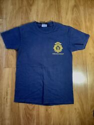 Harley Davidson S/s Navy Blue T-shirt Top Small Special Firefighter Edition