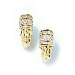 Fope 18kt Yellow Gold Ladies Clip-on Earrings With Diamonds