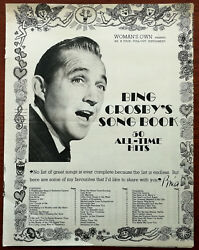 Bing Crosby's Song Book 50 All-time Hits. Woman's Own Supplement – Pub. Mid 1900