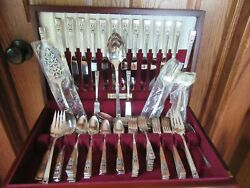 Oneida Coronation Silverplate 1936 Flatware Set 114 Piece And Box Most Excellent