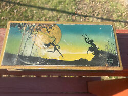 Vintage 1920s Beautebox Tin By Canco, Pan And Fairies Henry Clive Artist