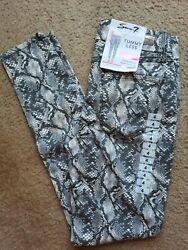 Seven7 Jeans-pants Tummyless High Rise Neutral Snake Slimming Womenand039s Size 4-10
