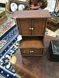 Antique Victorian Salesman Sample Or A Childand039s Step Back Cupboard