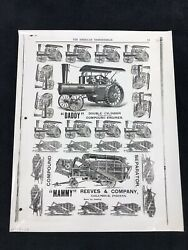 The American Thresherman Copy Of Advertisement Engines And Thresher Vintage Photo