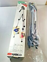Ambico 54 Tripod Deluxe For Video Camera Or Camcorder New