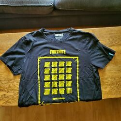 Official Fortnite Menand039s And Womenand039s Xl T-shirt | Barcelona Quarter-finalist Shirt