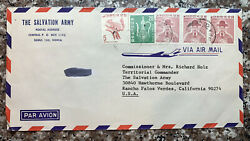 1978 Seoul South Korea Cover To Salvation Army In Rancho Palos Verdes California