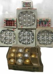 Vintage Shiny Brite - Large Lot Of Christmas Glass Ornaments - 112 Total