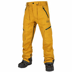 Volcom Guch Gore-tex Menand039s Pants Snowboard Ski Winter Trousers Snow Yellow