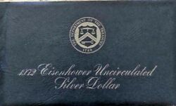 1972-s Us Mint Eisenhower Uncirculated Dollar 40 Silver