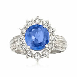 Vintage Sapphire And Diamond Ring In Platinum Size 5.25