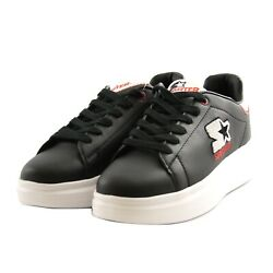 Shoes Sneakers Casual Starter Black Label Leather Men Black Rubber White Upturn