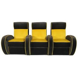 Cavallo Pharaoh Home Theater Seating In Aria Fabric Row Of 3 Usb Power